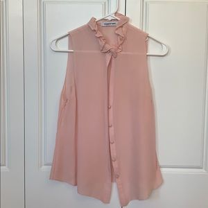 Elizabeth & James silk pink sample blouse